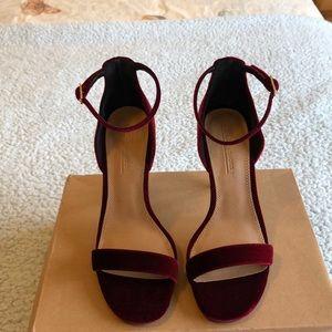 NEW!! Red velvet stilettos